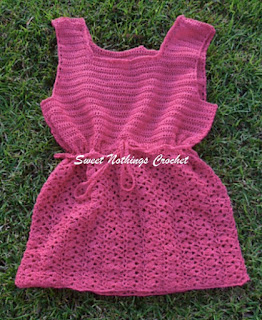 free crochet drawstring ladies top