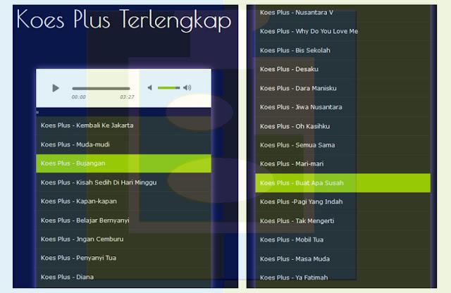 Aplikasi Lagu KOES PLUS Terlengkap Mp3 Terbaik - udibaracom