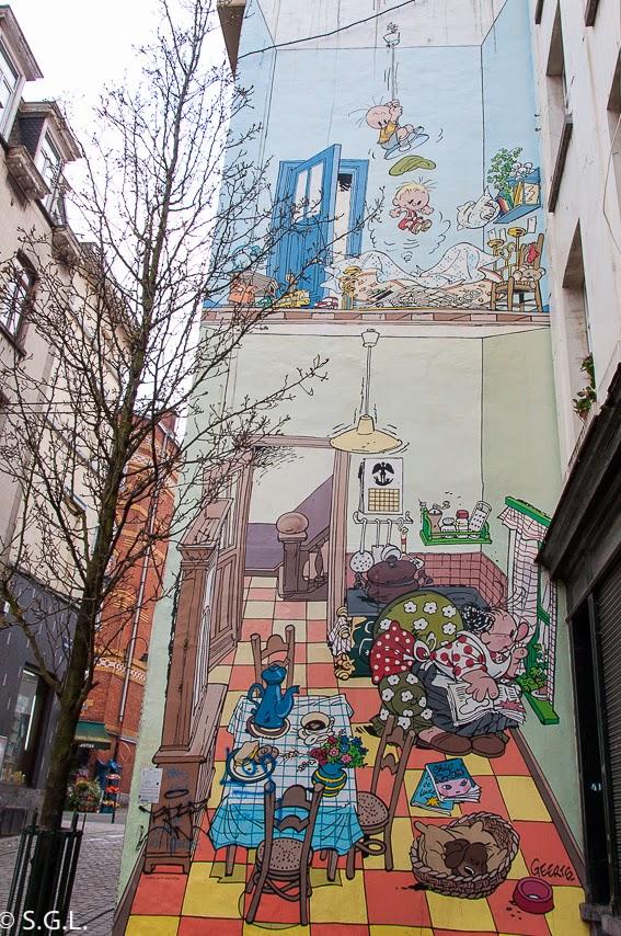 El pequeño Jojo en la ruta del comic en Bruselas