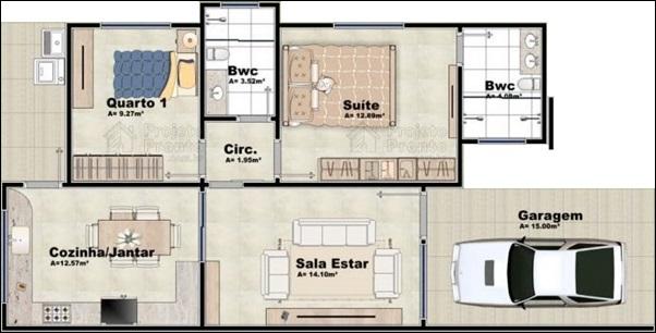 casa 2 banheiros
