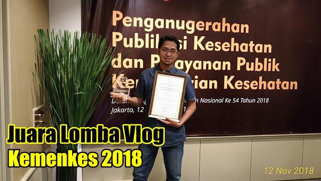Juara Lomba Vlog Kemenkes 2018