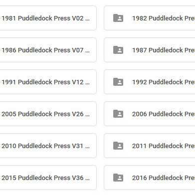 Archived Additions Of The Puddledock Press