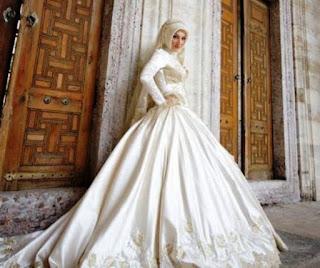 Model Baju pengantin Internasional Muslim Berhijab