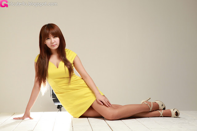 1 Ryu Ji Hye in Yellow-very cute asian girl-girlcute4u.blogspot.com