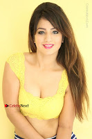 Cute Telugu Actress Shunaya Solanki High Definition Spicy Pos in Yellow Top and Skirt  0180.JPG