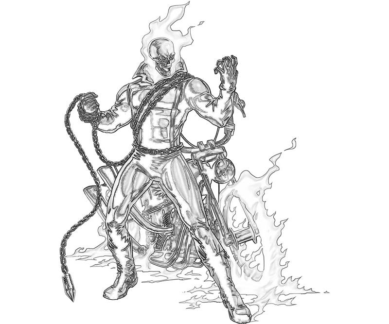 ghost rider coloring pages to print - ghost rider ghost rider power supertweet