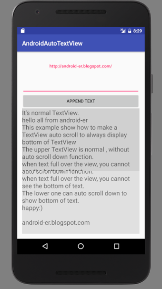 Textview, Automobile Scroll Downwards To Display Bottom Of Text