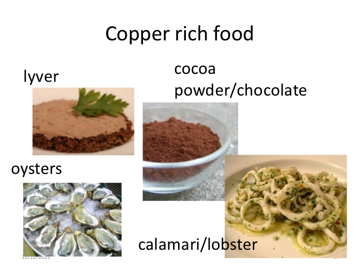 Food with copper
