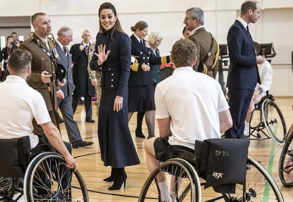 Kate Middleton wore Alexander McQueen military dress. the Duchess of Cornwall, together with the Duchess of Cambridge