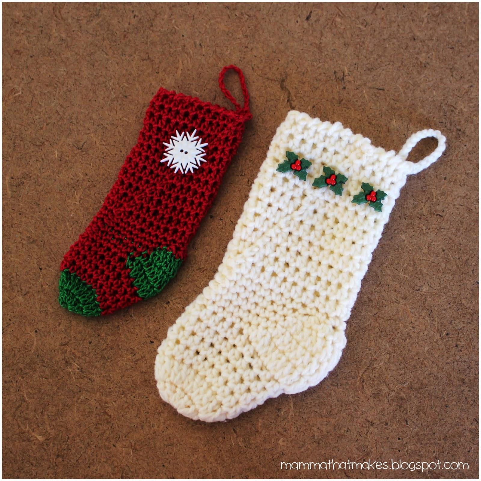 67cdae00c Mamma That Makes  Mini Crochet Christmas Stocking 2 Ways