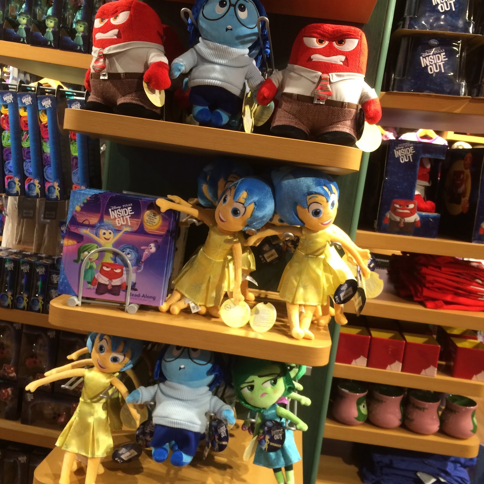 disney store inside out merchandise release