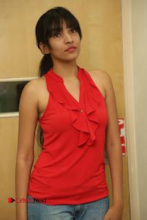 Actress Supraja Stills in Ripped Jeans at Ila Nee Jathaga Trailer Launch at Radio City  0030