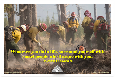 Whatever you do in life, surround yourself with smart people who'll argue with you.  - John Wooden (handcrew digging line)