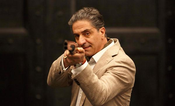 Simon Abkarian plays the crime boss Jacomo Morrier in OVERDRIVE (2017)