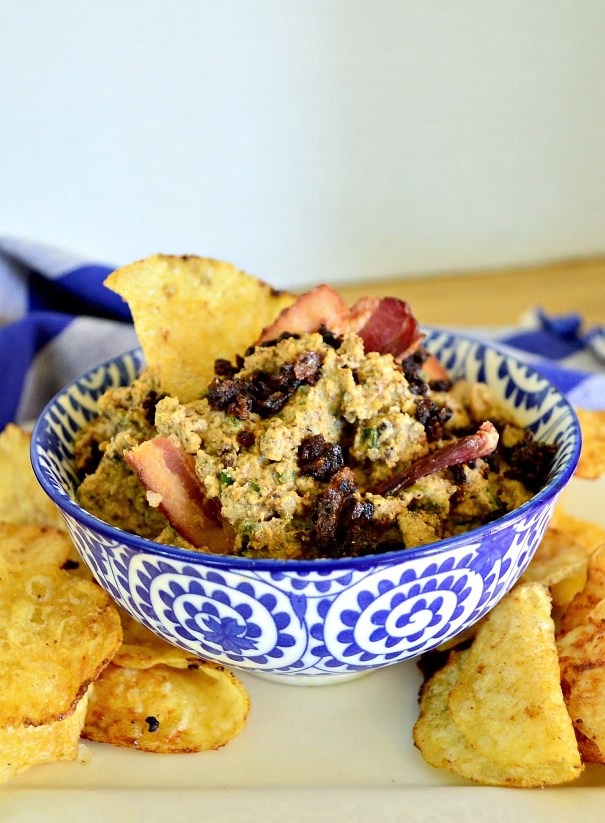 Bacon Jam, horseradish and ricotta dip