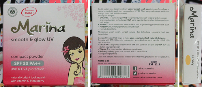 marina smooth and glow uv compact powder | japobsganbare.blogspot.com