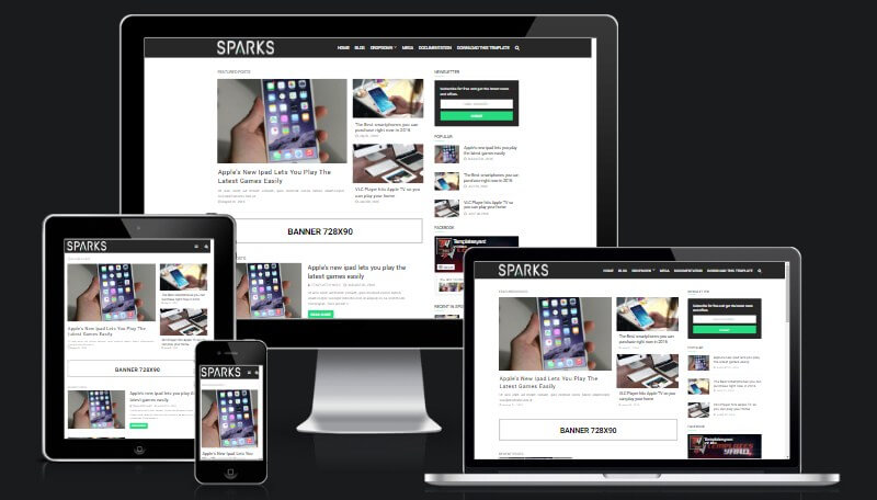 Sparks Blog Blogger Template | Templatesyard: Free Blogger Templates ...