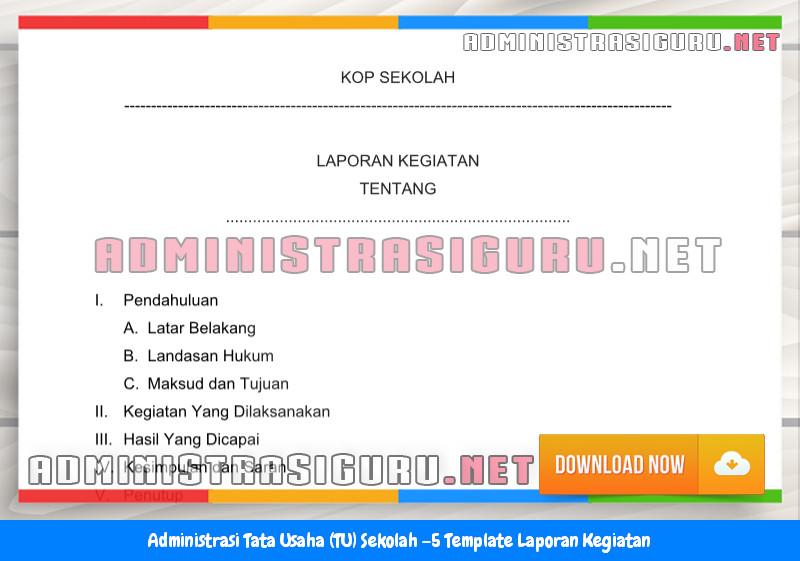 Contoh Format Laporan Kegiatan Administrasi Tata Usaha Sekolah Terbaru Tahun 2015-2016.docx