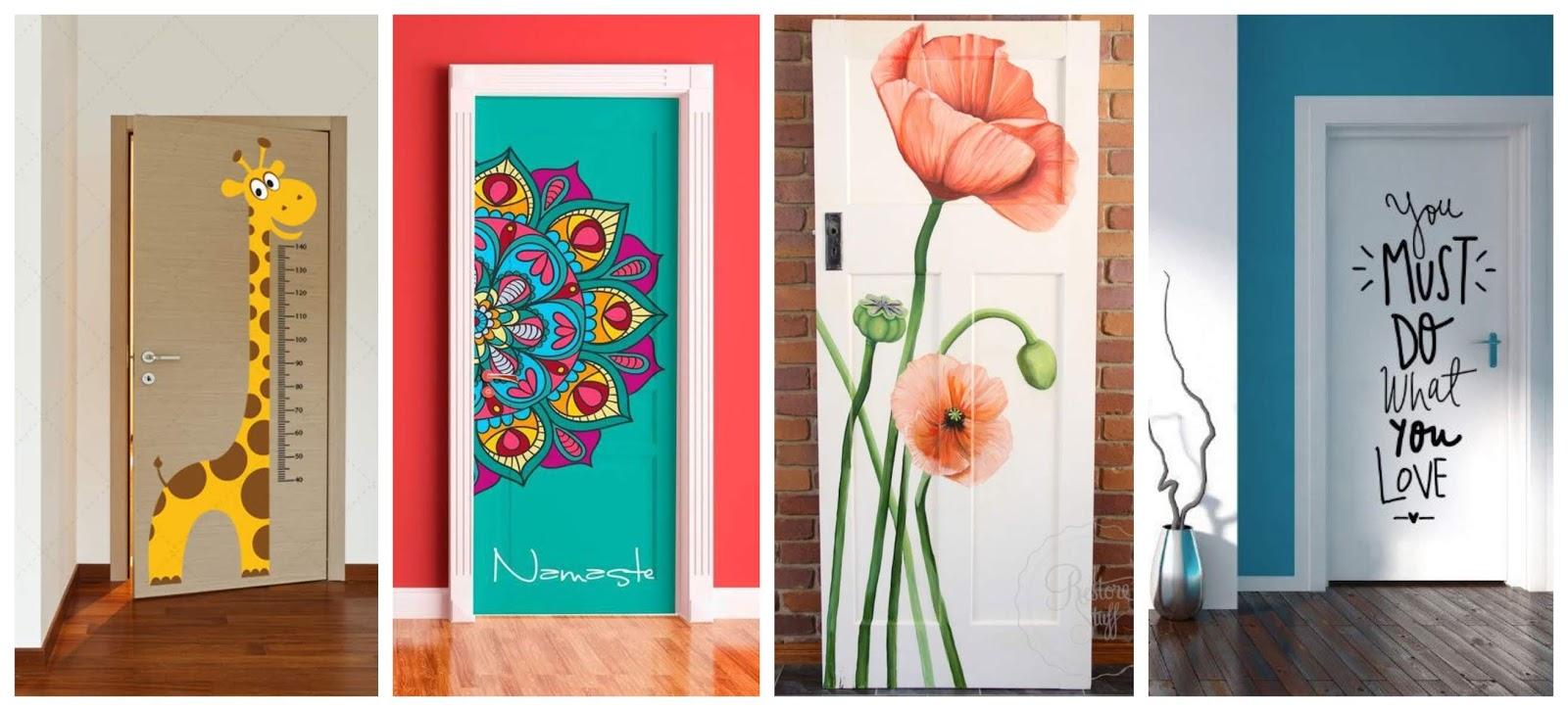 13 hermosas ideas de c mo decorar puertas de forma for Ideas para decorar puertas