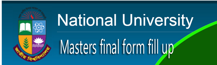 NU masters final form fill up notice