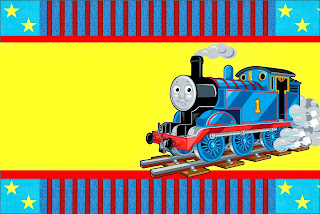Thomas the Train,  Free Printable Invitations, Labels or Cards.