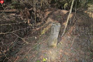 Бетонный столбик между четвертым и пятым бункерами