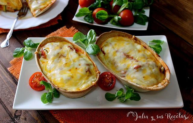 Barquillas mejicanas de calabacín y queso. Julia y sus recetas