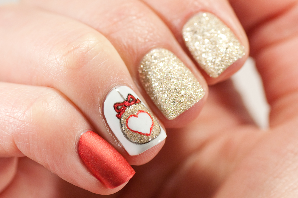 Christmas Ornament Nails - May contain traces of polish