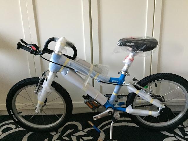 Woom 3 - So kommt das Fahrrad zu Hause an