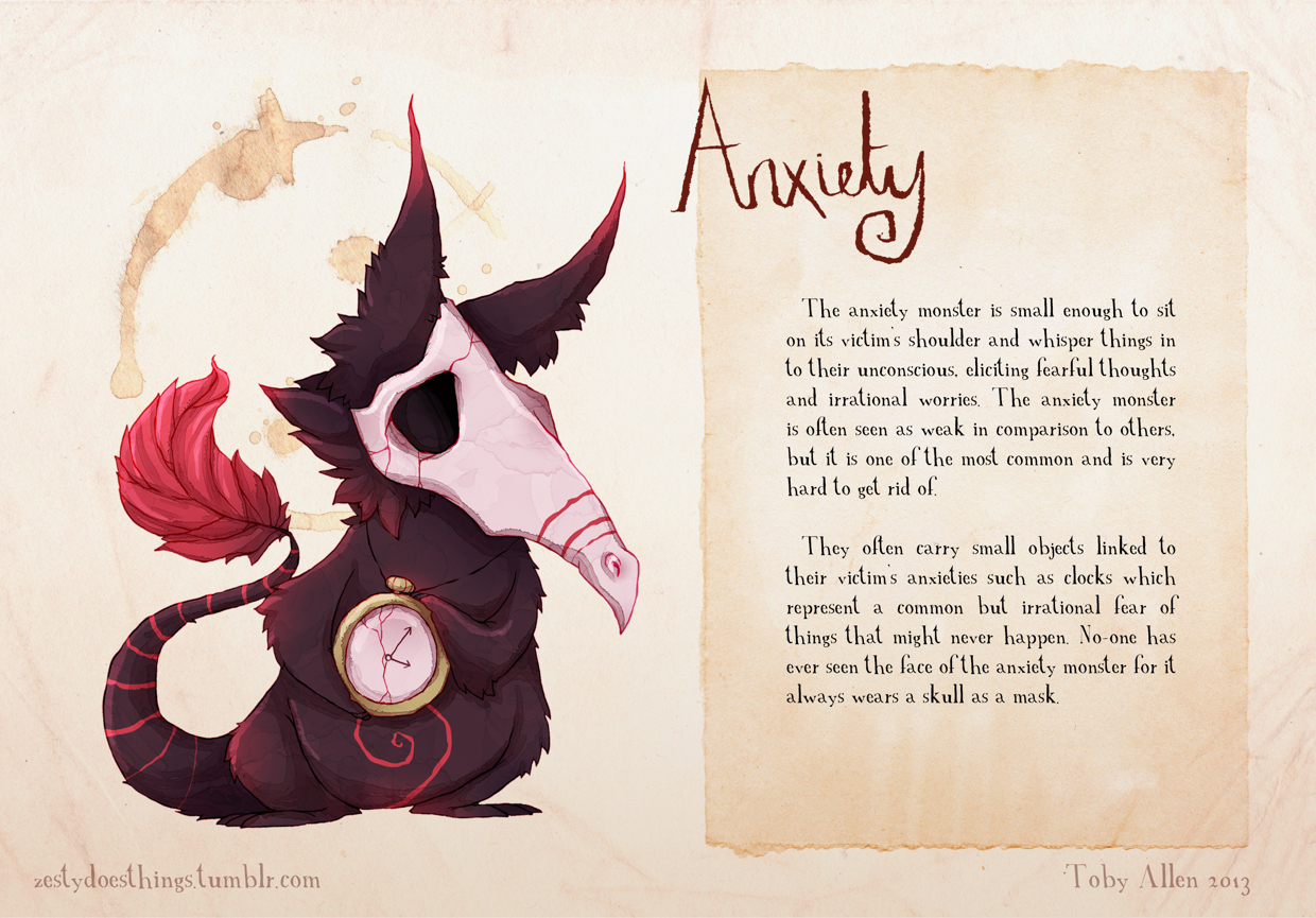 02-Anxiety-Toby-Allen-Monster-Illustrations-to-Embody-Mental-Illness-www-designstack-co