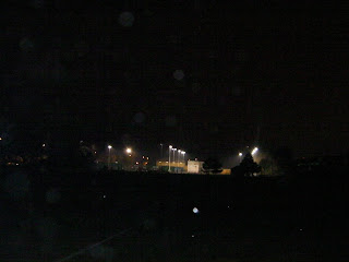 floodlights on football pitch at night