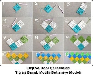 Örgü Başak Modelli Battaniye Yapımı, Resimli Açıklamalı, Videolu1