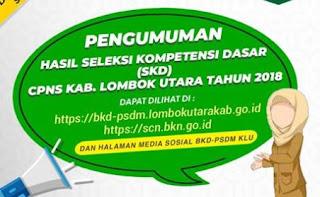Hasil Seleksi Kompetensi Bidang (SKB) CPNS Kab. Lombok Utara
