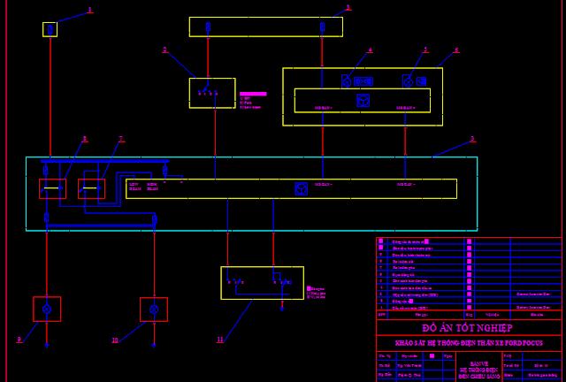 Bản vẽ mạch điện hệ thống gạt nước rửa kính