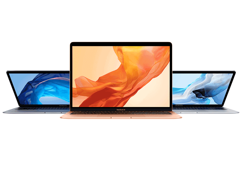 The new Apple Macbook Air comes in three colors!