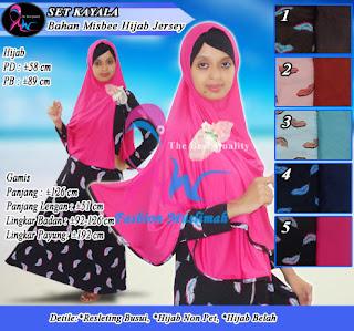 Gamis syar'i satu set dengan jilbab bergo model terbaru