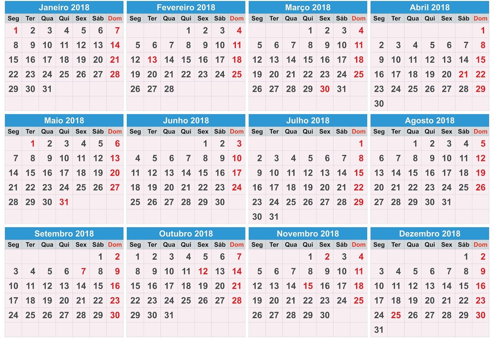 Calend rio 2018 psd cdr ai pdf calend rios gr tis for Calendario de pared 2018
