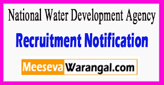 NWDA National Water Development Agency Recruitment Notification 2017 Last Date Within 60 days