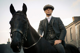 Tommy Shelby on his horse in Peaky Blinders