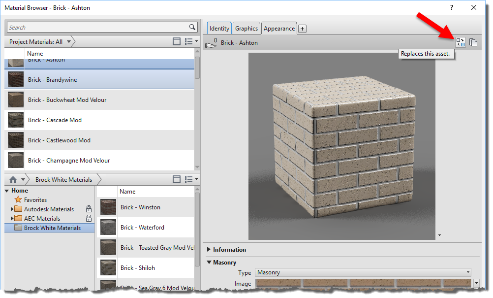 BIM Chapters: Brick Material and Assets Library in Revit