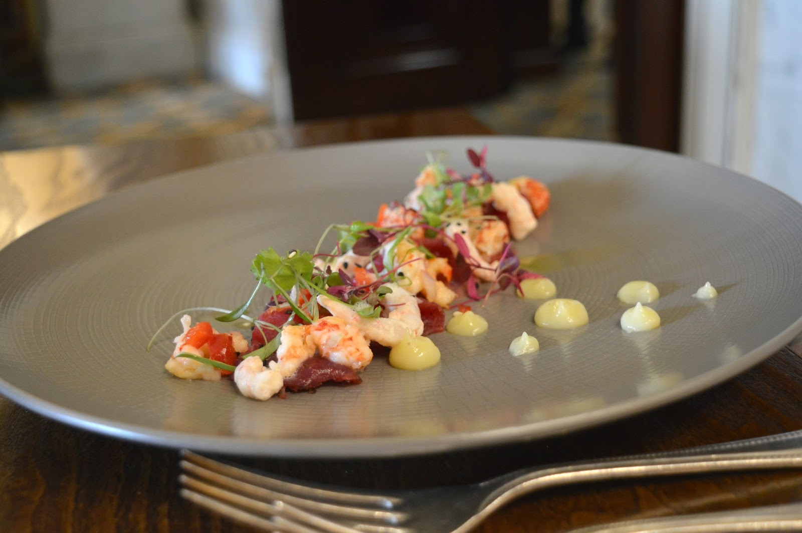 Sunday Lunch at Wynyard Hall - Salmon and Crayfish Gravlax