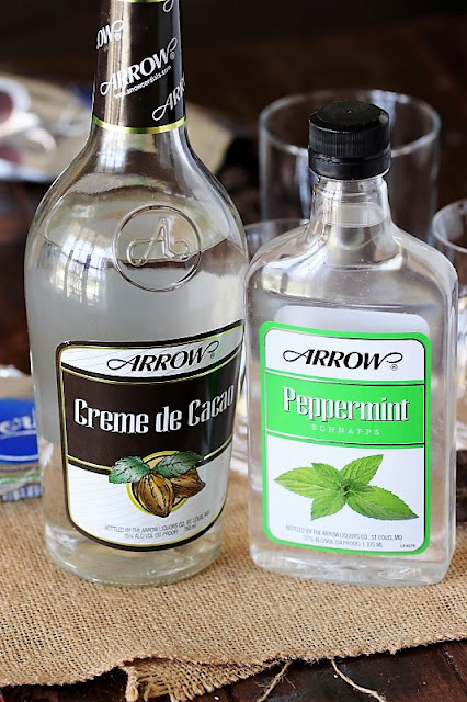 Ingredients to Make a Peppermint Patty Cocktail Image