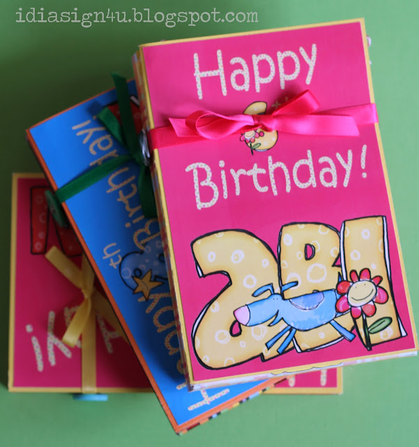 DIY Birthday Card | Book For Birthday Keepsakes by ilovedoingallthingscrafty.com
