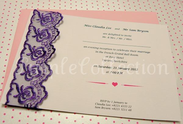 Lace Themed Wedding Invitations: Lace Theme Wedding Invitation Card