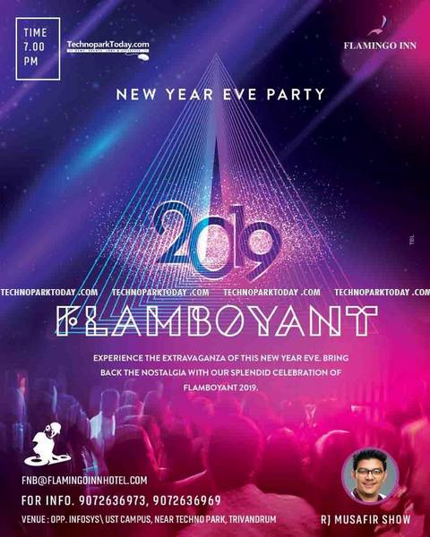 Flamingo Inn party new year trivandrum