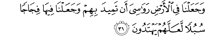 Surat Al Anbiya Ayat 31