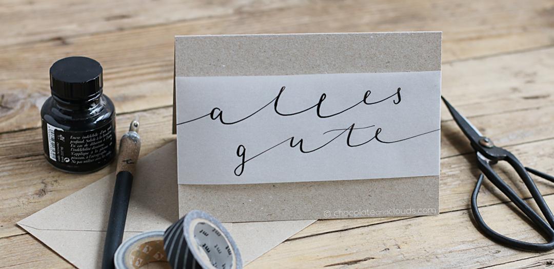 karte geburtstag muttertag kalligraphie lettering