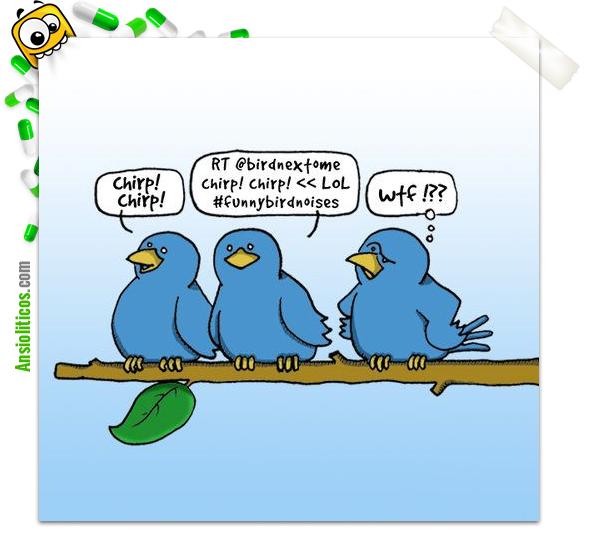 Chiste de Pájaros y Twitter