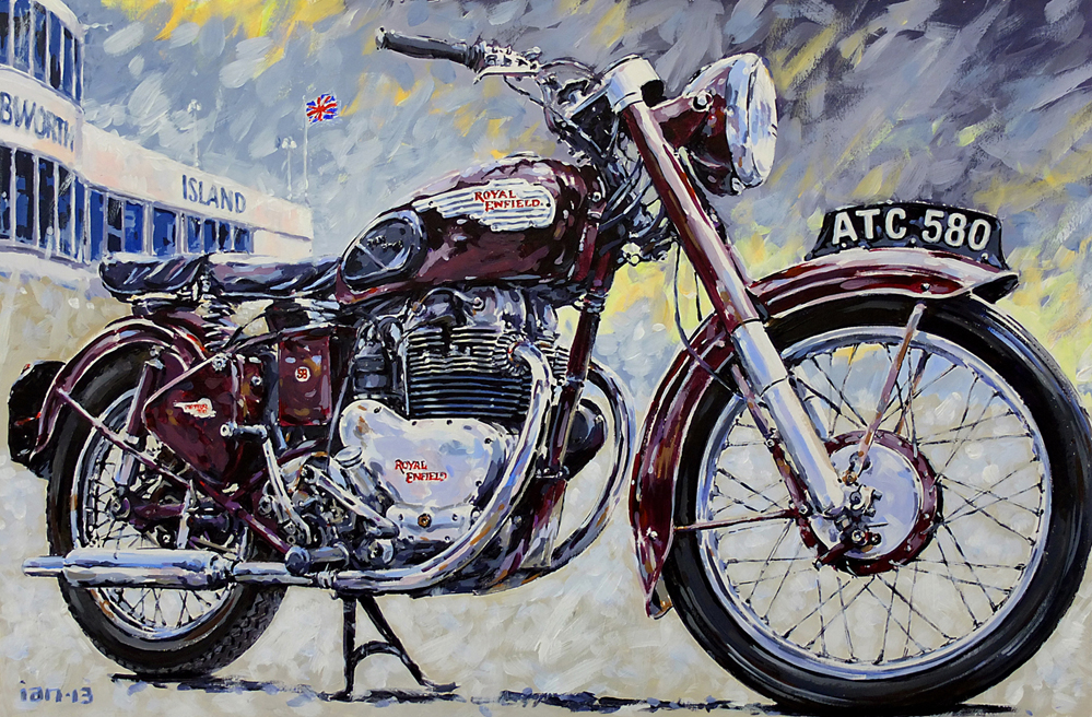 RoyalEnfields.com: Painting of 1954 Royal Enfield Meteor ...
