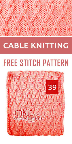 Cable Knitting Free Stitch Pattern 39